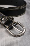 Classic black leather belt Stock Image