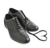 Classic black leather shoes isolated Royalty Free Stock Photo