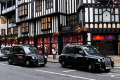 Classic black London taxis Royalty Free Stock Photos