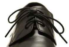 Classic black men's shoe on white background Stock Photography