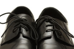 Classic black men's shoes Stock Images
