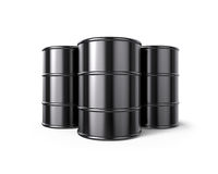 Classic Black Oil Barrels Royalty Free Stock Photo
