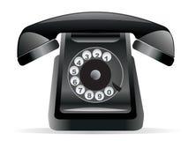 Classic Black Phone Stock Image