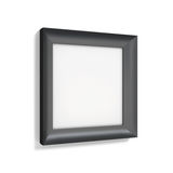 Classic black photo frame on white background. 3d rendering Royalty Free Stock Photography
