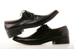 Classic Black Shoes Royalty Free Stock Images