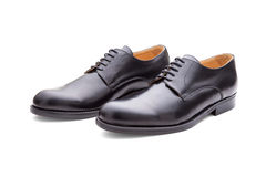 Classic Black Shoes For Men Stock Photo