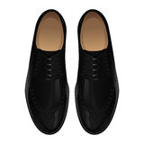 Classic black shoes. Classic black oxford men's shoes Royalty Free Stock Image