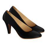 Classic black shoes for women on high heel Royalty Free Stock Photos