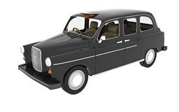 Classic black taxi Royalty Free Stock Image
