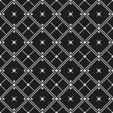 Classic black and white seamless patterns with rhombus, crosses and lines vector illustration