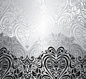 Classic black & white vintage invitation background Stock Photos