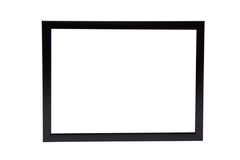 Classic black wooden frame isolated on white background Stock Photo