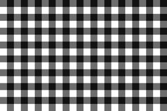 Classic blalck checkerboard Chequer seamless pattern for textile, paper print. Vector illustration. Stock Photo