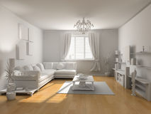 The classic blank interior Royalty Free Stock Photo
