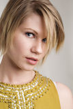 Classic blond haired beauty royalty free stock photos