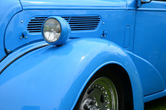 Classic blue car Royalty Free Stock Photos