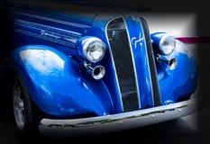 Classic blue car. Classic Old blue car Stock Photos