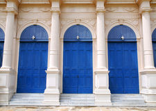 Classic Blue door Royalty Free Stock Photos