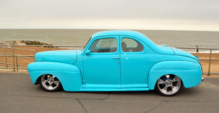 Classic Blue Ford Coupe  Hot rod Royalty Free Stock Images