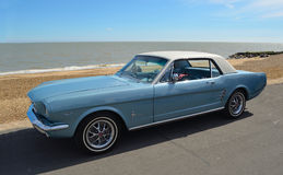 Classic Blue Ford Mustang motor car Royalty Free Stock Photos