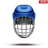 Classic blue Goalkeeper Ice Hockey Helmet isolated Stock Photos