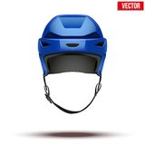 Classic blue Hockey Helmet isolated on Background Stock Image
