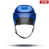 Classic blue Ice Hockey Helmet with glass visor Royalty Free Stock Images