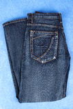 Classic blue jeans Royalty Free Stock Images