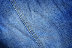 Classic blue jeans texture with stitch for pattern and backgroun. It is classic blue jeans texture with stitch for pattern and background Royalty Free Stock Images