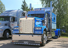 Classic Blue Kenworth Show Truck royalty free stock photography