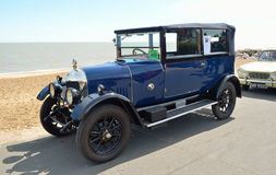 Classic Blue Morris Oxford motor car Royalty Free Stock Image