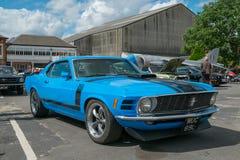 Classic Blue Mustang Boss 302 Stock Photos