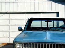 Classic Blue Parked Pickup. Blue Parked Pickup Truck in the driveway Royalty Free Stock Image