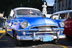 Classic blue Plymouth in Havana. Cuba Stock Photo