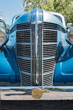 Classic blue Pontiac oldtimer car.  Stock Photos