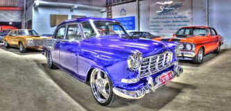 Classic blue 1950s Australian Holden Stock Photos