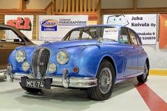 Classic Blue 60s Jaguar Royalty Free Stock Image