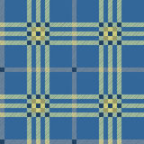 Classic blue tartan Stock Image