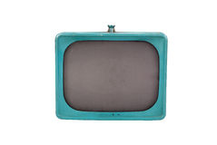 Classic blue television Royalty Free Stock Photo
