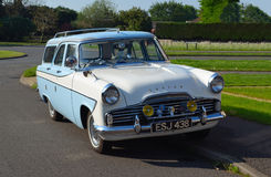 Classic Blue and white Ford Zodiac Estate Motor Car. Stock Photos