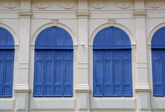 Classic Blue window. Beauty  blue   building  city closed color Stock Image