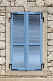 Classic Blue Wooden Window Royalty Free Stock Photo