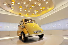 Classic BMW Isetta mini car on display in BMW Museum Stock Image