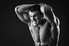 Classic bodybuilder Stock Photos