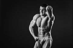 Classic bodybuilder Royalty Free Stock Photo