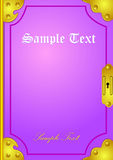 Classic book. Cover illustration background Royalty Free Stock Images
