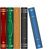 Classic books set. Isolated over white background Royalty Free Stock Images