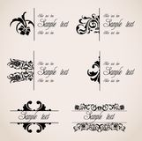 Classic Border Ornaments. Vector set Royalty Free Stock Photography