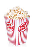 Classic box of red and white popcorn box Royalty Free Stock Photo