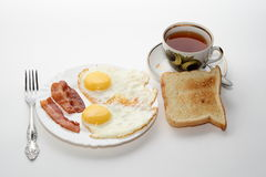 Classic Breakfast. Isolated on white background Stock Photos